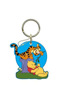 2002-2002 Lincoln Blackwood Plasticolor Key Chains - Pooh/Tigger