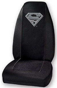 1988-1991 Honda Prelude Plasticolor Seat Covers - Superman Silver Logo