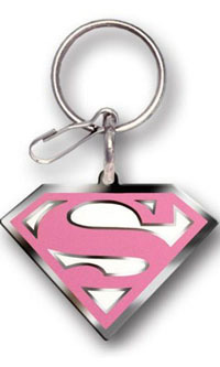 2002-2002 Lincoln Blackwood Plasticolor Key Chains - Super Girl Enamel