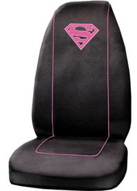 1988-1991 Honda Prelude Plasticolor Seat Covers - Supergirl Logo Embroidered