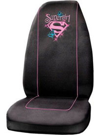 1988-1991 Honda Prelude Plasticolor Seat Covers - Supergirl Stars Embroidered