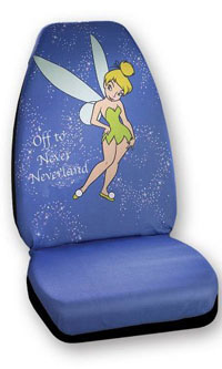 "1988-1991 Honda Prelude Plasticolor Seat Covers - Tinker Bell ""Off To Never Neverland"""