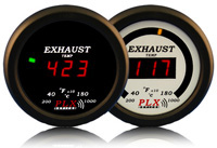 1998-2000 Ford Ranger PLX Devices Gauges - 52mm Exhaust Gas Temperature LED (Black)