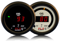 1998-2000 Ford Ranger PLX Devices Gauges - 52mm Oil Temperature LED (Black)