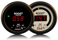 1998-2002 Isuzu Trooper PLX Devices Gauges - 52mm Vacuum / Boost LED (Black)