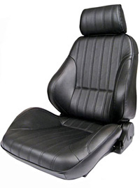 1973-1979 Ford F150 Procar Racing Seat - Rally Series 1000, Black Vinyl (Left)