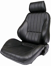 1973-1979 Ford F150 Procar Racing Seat - Rally Series 1000, Black Leather (Left)