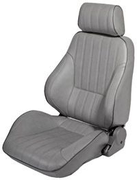 1977-1979 Mercury Cougar Procar Racing Seat - Rally Series 1000, Grey Vinyl (Left)