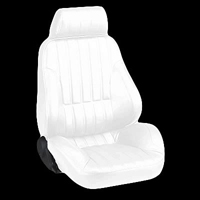1977-1979 Mercury Cougar Procar Racing Seat - Rally Series 1000, White Vinyl (Left)