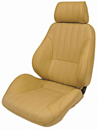 1977-1979 Mercury Cougar Procar Racing Seat - Rally Series 1000, Beige Vinyl (Left)