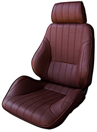 1977-1979 Mercury Cougar Procar Racing Seat - Rally Series 1000, Maroon Vinyl (Left)