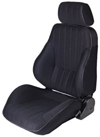 1983-1993 GMC Jimmy Procar Racing Seat - Rally Series 1000, Black Velour (Left)