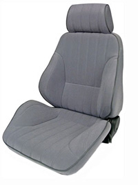 1977-1979 Mercury Cougar Procar Racing Seat - Rally Series 1000, Grey Velour (Left)