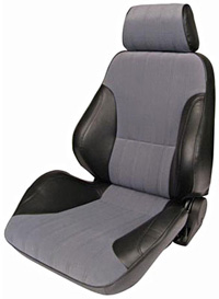 2000-2006 Mercedes Cl-class Procar Racing Seat - Rally Series 1000, Black Vinyl Sides, Grey Velour Insert (Left)