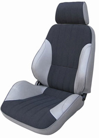 1999-2001 Isuzu Vehicross Procar Racing Seat - Rally Series 1000, Grey Vinyl Sides, Black Velour Insert (Left)
