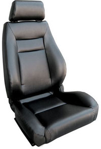 2002-2004 Volvo S40 Procar Racing Seat - Elite Series 1100, Black Vinyl (Left)