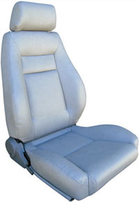 All Jeeps (Universal), Universal - Fits All Vehicles Procar Racing Seat - Elite Series 1100, Grey Vinyl (Left)