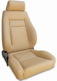 2002-2004 Volvo S40 Procar Racing Seat - Elite Series 1100, Beige Vinyl (Left)