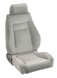 All Jeeps (Universal), Universal - Fits All Vehicles Procar Racing Seat - Elite Series 1100, Grey Velour (Right)