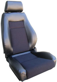2002-2004 Volvo S40 Procar Racing Seat - Elite Series 1100, Black Vinyl Sides, Black Velour Insert (Left)