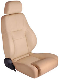 All Jeeps (Universal), Universal - Fits All Vehicles Procar Racing Seat - Elite Lumbar Series 1200, White Vinyl (Right)