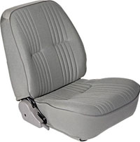 All Jeeps (Universal), Universal - Fits All Vehicles Procar Racing Seat - Pro 90 Low Back Series 1400, Grey Velour (Left)