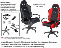 1991-1994 Honda_Powersports CBR_600_F2 Procar Garage Equipment - Office Chair Assembly Package for Rally, Elite, Pro 90, Lumbar, Rave & Rave X