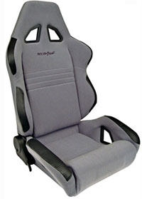 1962-1967 Chevrolet Nova Procar Racing Seat - Rave Series 1600, Grey Velour (Left)