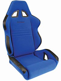 1962-1967 Chevrolet Nova Procar Racing Seat - Rave Series 1600, Blue Velour (Left)
