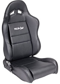 2002-2004 Volvo S40 Procar Racing Seat - Sportsman Series, Black Synthetic Leather (Left)