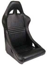 2002-2004 Volvo S40 Procar Racing Seat - Xtreme Series 1700, Black Velour (Right)