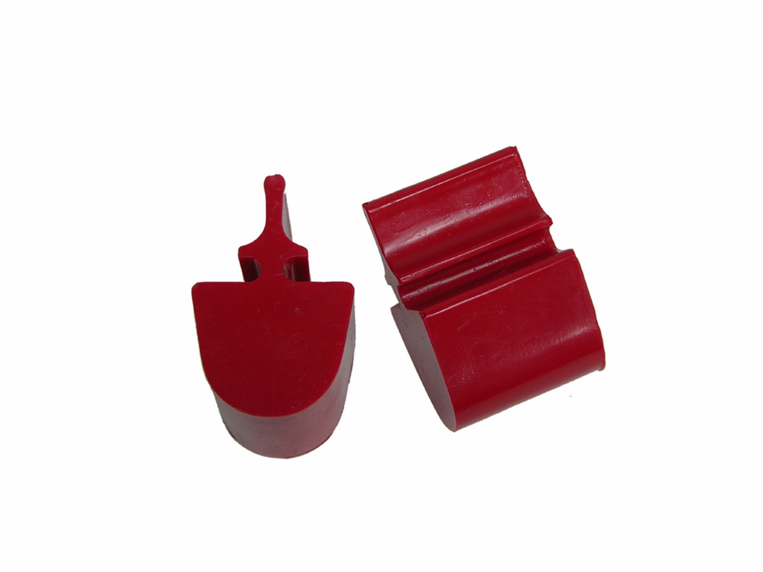 All Vehicles (Universal) Prothane Pull Through Style Bump Stop - Round Top Model - Red