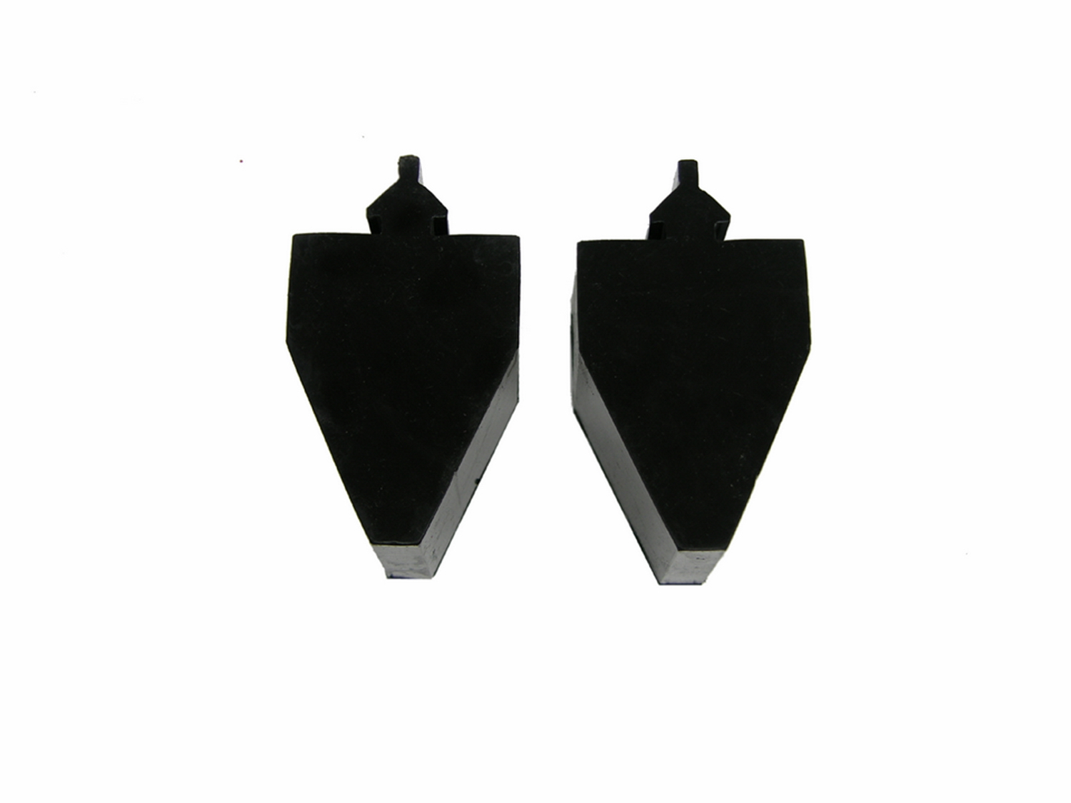 All Vehicles (Universal) Prothane Pull Through Style Bump Stop - Tall Pyramid Model - Black