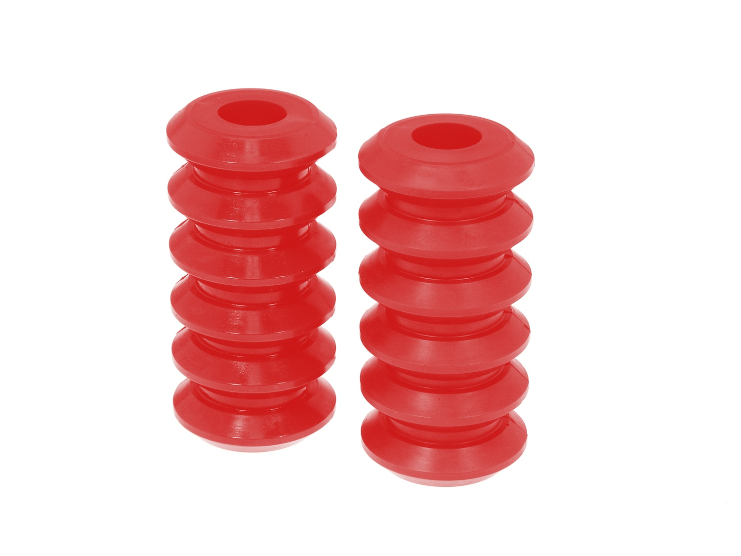 All Vehicles (Universal) Prothane Coil Spring Inserts - 5 Inch - Red