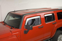 05-08 Hummer H3 Putco Side Window Deflectors - 4 PC Element (Chrome)
