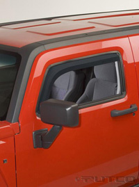 05-08 Hummer H3 Putco Side Window Deflectors - Element Tinted Front