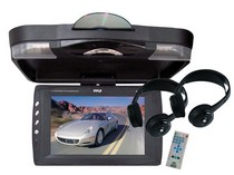 "2003-9999 GMC Savana Pyle 12.1"" Roof Mount TFT LCD Monitor w/ Built-In DVD Player & Wireless Headphones"