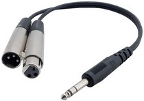 "1968-1974 Chevrolet Nova Pyle 1 Ft 1/4"" Stereo Male To 1 XLR Male And XLR Female Y-Cable"