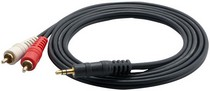 "1968-1974 Chevrolet Nova Pyle 12 Gauge 6Ft RCA Male To 3.5mm"" Male Cable"