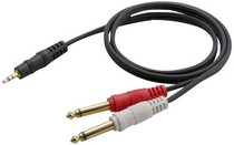 "1968-1974 Chevrolet Nova Pyle 12 Gauge 3Ft 3.5mm Male Stereo To Dual 1/4"" Male Mono Y-Cable Adapter"