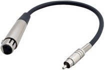 1968-1974 Chevrolet Nova Pyle 12 Gauge 1Ft RCA Male To 3-Pin XLR Female Audio Cable