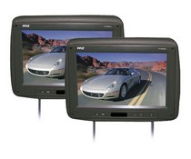"1998-2003 Toyota Sienna Pyle Pair of Adjustable Headrests w/ Built-In 10.2"" TFT Monitor & IR Transmitter (Black Color)"
