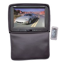 "2003-2008 Nissan 350z Pyle Adjustable Headrests w/ Built-In 11"" TFT/LCD Monitor W/IR Transmitter & Cover (Black)"