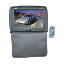 "2003-2008 Nissan 350z Pyle Adjustable Headrests w/ Built-In 11"" TFT/LCD Monitor W/IR Transmitter & Cover (Gray)"