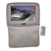 "2003-2008 Nissan 350z Pyle Adjustable Headrests w/ Built-In 11"" TFT/LCD Monitor W/IR Transmitter & Cover (Tan)"