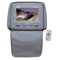 "1998-2003 Toyota Sienna Pyle Adjustable Headrests w/ Built-In 7"" TFT/LCD Monitor W/IR Transmitter & Cover (Gray)"