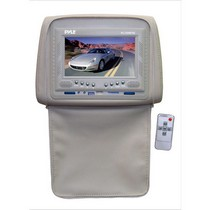 "1998-2003 Toyota Sienna Pyle Adjustable Headrests w/ Built-In 7"" TFT/LCD Monitor W/IR Transmitter & Cover (Tan)"