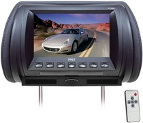 "2003-2008 Nissan 350z Pyle Adjustable Hideaway Headrest 7"" TFT Video Monitor (Black)"