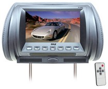 "2003-2008 Nissan 350z Pyle Adjustable Hideaway Headrest 7"" TFT Video Monitor (Grey)"