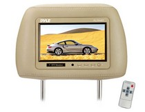 "2003-9999 GMC Savana Pyle Complete Tan Vinyl Headrest w/Built-In 7"" TFT-LCD Monitor"